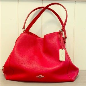 Red Leather Coach Purse